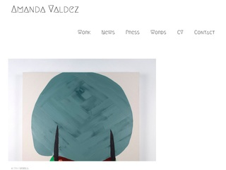 AmandaValdez.com - web design
